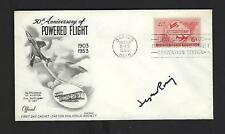Seymour Rosing signed cover Bell Test Pilot XP-59, P-39, P-63