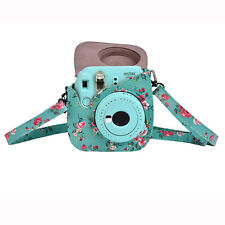 Floral Instant Camera PU Leather Protective Case Bag for Fujifilm Instax Mini8/9