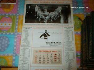 1964 65 BISHOP NEUMANN HIGH SCHOOL CALENDAR BASKETBALL TEAM PHOTO SCHEDULES