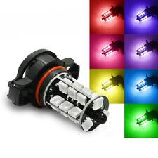 2Pcs 5202 H16 27-SMD Multi-Color RGB LED Car Fog Lights Driving Bulbs IR Remote