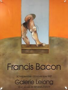 Francis Bacon - Galerie Lelong - 1987 - Exhibition Poster