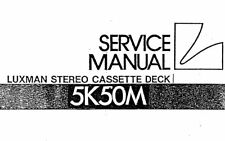 LUXMAN 5K50M ST CASSETTE TAPE DECK SERVICE MANUAL INC SCHMS PRINTED IN ENGLISH