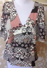 River Island Batwing Floral Design Top Size 12