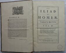 HOMER, The Iliad, 1718,Old Book, First Edition, Vol 4,Alexandre Pope.