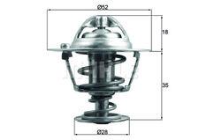 TX 184 78D MAHLE Thermostat d'eau pour HONDA CR-Z (ZF)