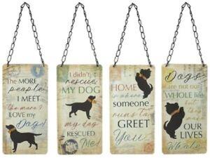 Metal Wall Hanging Dog Sign Plaque Retro Funny Novelty Humorous 20cm