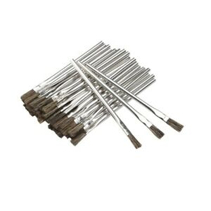 144 Piece 3/8 in. Horsehair Bristle Acid Shop Hobby Brushes Glue Oil Flux New