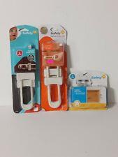 New listing Safety 1St White Plastic Cabinet Slide Locks 5 Pack ,2pack furniture wall straps