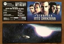 """STAR TREK INTO DARKNESS - D/S 4.5""""x12"""" Flyer Movie Poster Coupon - MINT & RARE"""