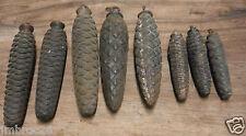 8 ANCIENS POIDS MOUVEMENT PENDULE HORLOGE COMTOISE COUCOU FORET NOIRE OLD CLOCK