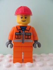 LEGO Minifig cty031 @@ Construction Worker Helmet, Brown Eyebrows 4933 7905 7994