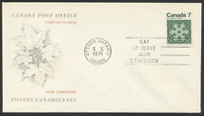 1971 #555 7c Christmas FDC, Canada Post Replacement Cachet