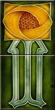 Decorative Tile 6 X 6 inches Ceramic mural  Art Nouveau reproduction  #13