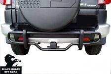 Black Horse Black Rear Bumper Guard Protector [Fit:2007-2016 Toyota FJ Cruiser ]