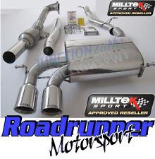Milltek Audi S3 8P Exhaust Turbo Back Exhaust Non Res & Downpipe RACE Cat 3 Door