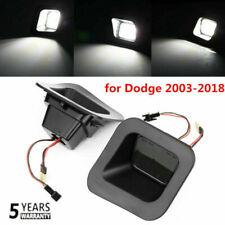 for Dodge Ram 2003-2018 1500 2500 3500 SMOKED LEN LED Rear License Plate Lights