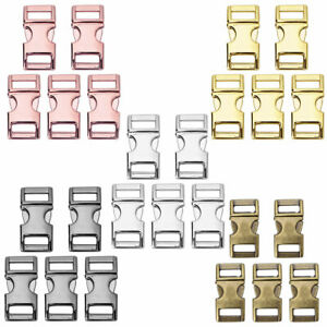 5Pcs Heavy Duty Metal Side Release Buckles Clips For Backpack Paracord Bracelets