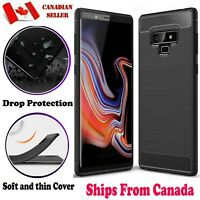 For Samsung Galaxy Note 8 9 10 10+ Plus Heavy Duty Carbon Fiber Slim Case Cover