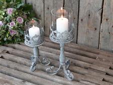 Chic Antique Windlicht 28cm am Fuß Zinke Metall Laterne Kerze vintage und shabby