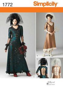 Simplicity 1772 - Steampunk Wedding Ladies Attire , Misses 4-12
