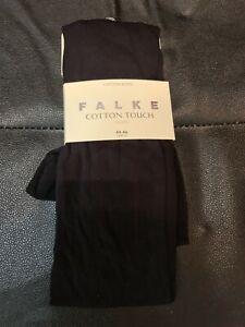FALKE Women's Cotton Touch Tights, (Marine 6179), L UK 18-20 EU 44-46
