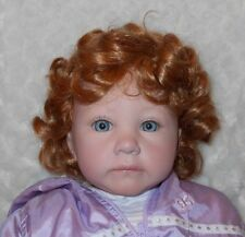 Monique Brittany Doll Wig Sz 14/15 Light Ginger ~Full Cap~Modacrylic~Long Curls