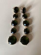 Next Dangly Earrings Green & Gold Drops BNWOT