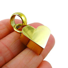 Love Heart Three Dimensional Brass Pendant