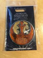Star Wars FORCE FOR CHANGE Pin.  New on Card.