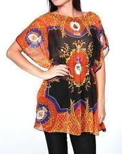Hip Length Chiffon Holiday Tops & Shirts for Women