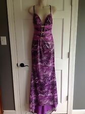 Terani Couture Purple Sequin Prom Formal Pageant Dress Size 0