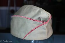 US WW2 Army Khaki Overseas Garrison Hat Cap Corps of Engineers Size 6 7/8 87