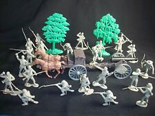 Classic Toy Soldiers, Civil War Lee's CONFEDERATE  Army - Soldiers, cannon, more