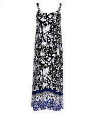 Katies Artisan CHIC V neck floral sun MAxi DRESS desk to dinner size 18 NEW
