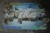 AFFICHE ste PERNOD - MOTO 24H DU MANS Le Mans 24 Hours POSTER 1983 - 50 x 33 cm