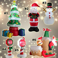 Inflatable Christmas Decorations Lighted Snowman Santa Claus Sleigh Outdoor Yard