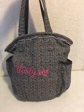 daa472c337 Thirty-One Herringbone Tweed White Black Tote Shoulder Bag free makeup purse