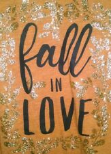 "1 CENT! CATO ""Fall In Love"" Burnt Orange T-Shirt Women's Plus Size (22/24)"