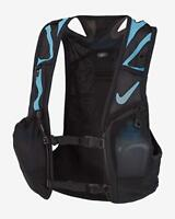 Nike Trail KIGER  3.0 Running Training HYDRATION  Vest Black Blue NRLA1   Sz XL