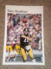 """Terry Bradshaw  (Mini Poster) # 46 of 50  NFL 1980 5.5"""" x 8.5""""  Thick Card Stock"""