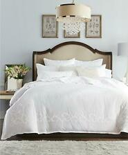 Hotel Collection Classic Scroll Appliqué Cotton King Duvet Cover White $500