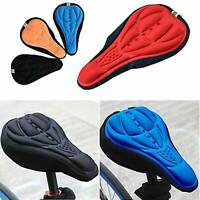 Cycling Bike Saddle Blue Cushion Bicycle Riding Seat Cover Padded Breathable Gel