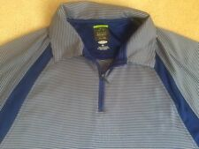 Mens size Xl Slim Fit Greg Norman Shark Polo Golf Shirt Play Dry polyester Blue