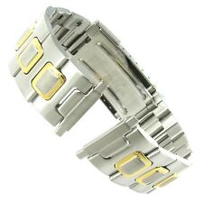 16-22mm Speidel Two Tone Stainless Steel Deployment Buckle Watch Band 1662/15