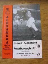 07/04/1984 Crewe Alexandra v Peterborough United  (Faint Crease)