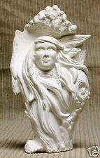 Ceramic Bisque Knotted Wood Wind Maiden Kimple Mold 2357 U-Paint Ready To Paint