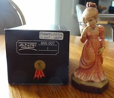 "Anri Sarah Kay Valentine hand carved wood ""Romantic Notions"" 4.5"" #655007"