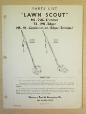 Western Tool Lawn Scout Power Edger-Trimmer, Parts Manual Ns- 90C / Te-190