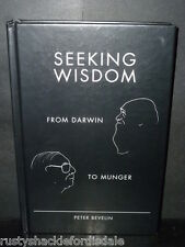 Seeking Wisdom, From Darwin to Munger SIGNED - Charlie Munger Berkshire Hathaway