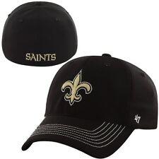 New Orleans Saints 47 Brand Game Time Closer Hat Stretch Fit Flex Cap